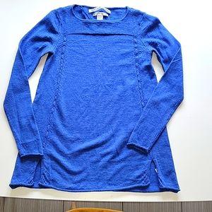 Max Studio Periwinkle Merino Wool Sweater Sz XS